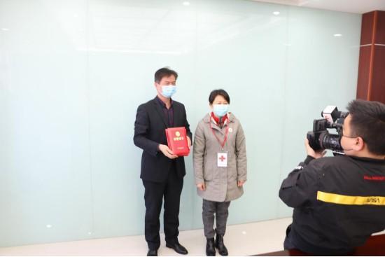 南京九建向六合区红十字会捐款,齐心协力共抗疫情!-第4张图片-南京九建